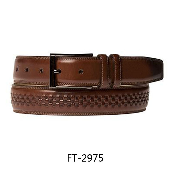 Top Quality Braided Italy Cow Leather Belts for Men