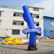 Blue inflatable advertising air dancer