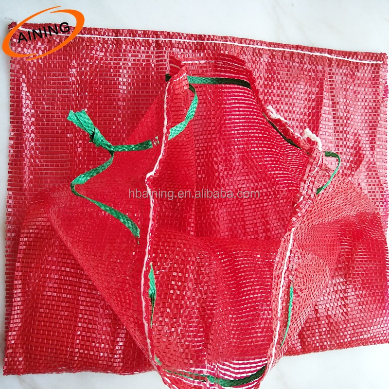 PP/PE Mesh Green 20 inch Net Bag for Produce, Toys, Vegetable Fruit Farm Use