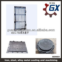 ductile cast iron concrete filled manhole cover with en 124 d400