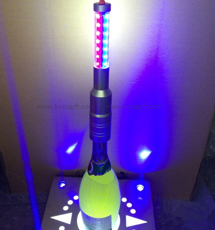 Rechargeable LED champagne bottle sparklers