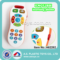 English mobile toys plastic musical mobile phone toy