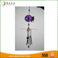 colourful cat metal wind chime garden decoration