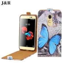 "High Quality Open Up And Down Flip Pu Leather Case Cover For Zte Blade A910 5.5"" Cases Cute Painting Colored Skin Phone Bags"