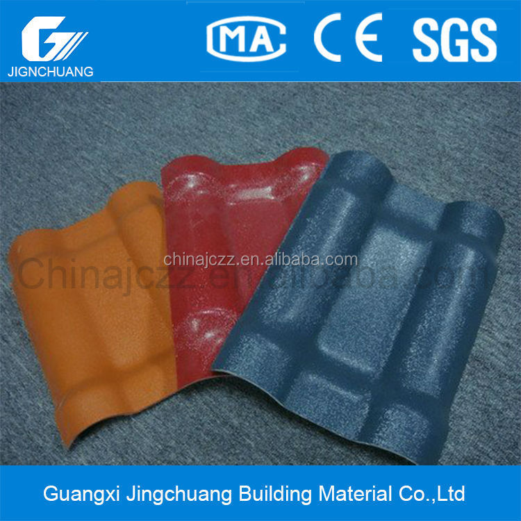 synthetic resin roof tile/corrugated plastic roofing sheets/lightweight roofing materials