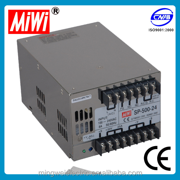 SP-500-15 500W 15V 32A Single Output PFC power supply 115vac 400hz power supply