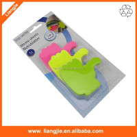 Finger shaped neon stationery set sticky notes, removable notepads in 3 colors