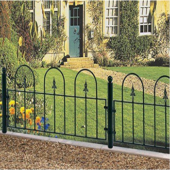 village hoop top railings or fence panels various sizes wrought Iron metal