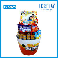 Corrugated cardboard display cabinet for sugus