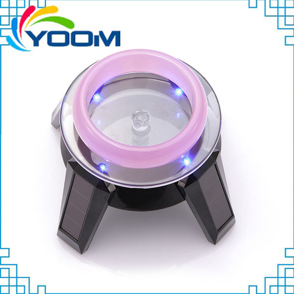 YMC-D05 360 degree autorotating hot seller advertising jewellery solar power battery powered rotating display stand