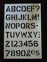 Big BOLD Alphabet and Numbers Stencil