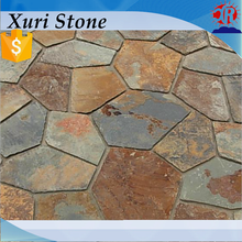 Quarry and Factory supply hot products multicolor natural rusty slate paving