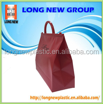 China customized color PVC plastic bag for shopping