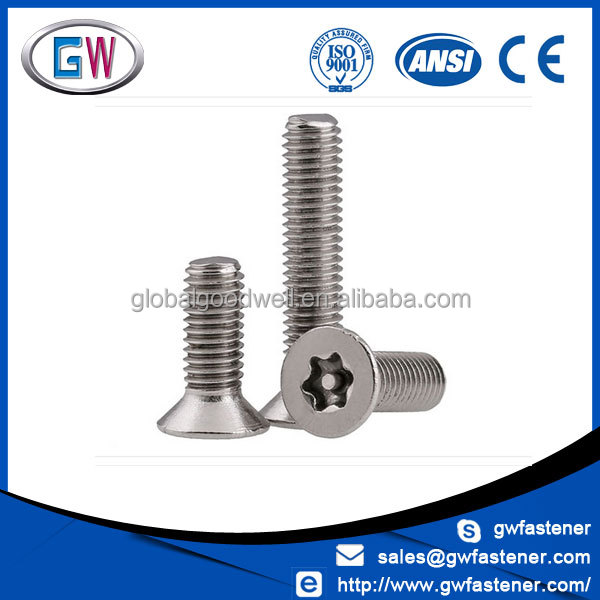 304 Stainless Steel Anti-Theft countersunk six lobe screw