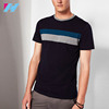 Colour Block Cotton Men's T-Shirt Sale With Short Sleeved And Crew Neck