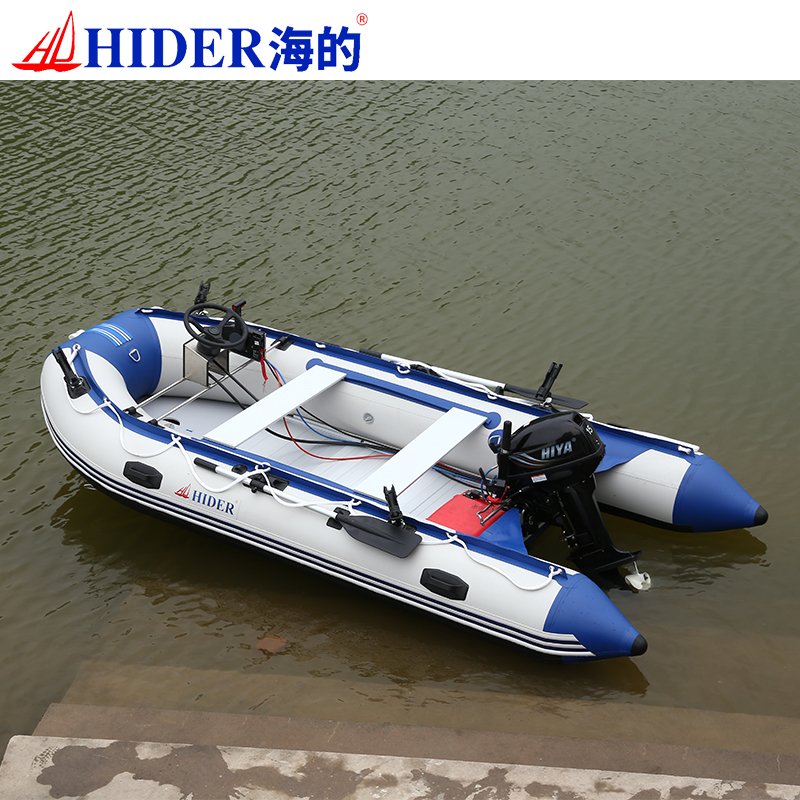2017 Hider hot sale inflatable boat with boat engine or motor for sale