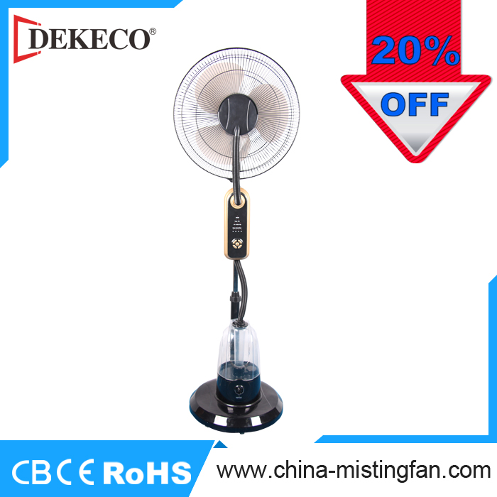 2017 new product 16 inch indoor outdoor industrial cool water mist spray fan with remote control