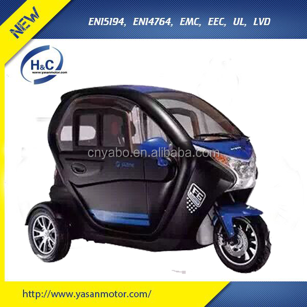 luxury 3 wheel electric pedicab for passenger EEC Approval
