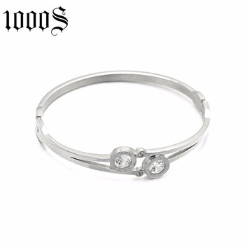 customizable fashion design stainless steel bangle