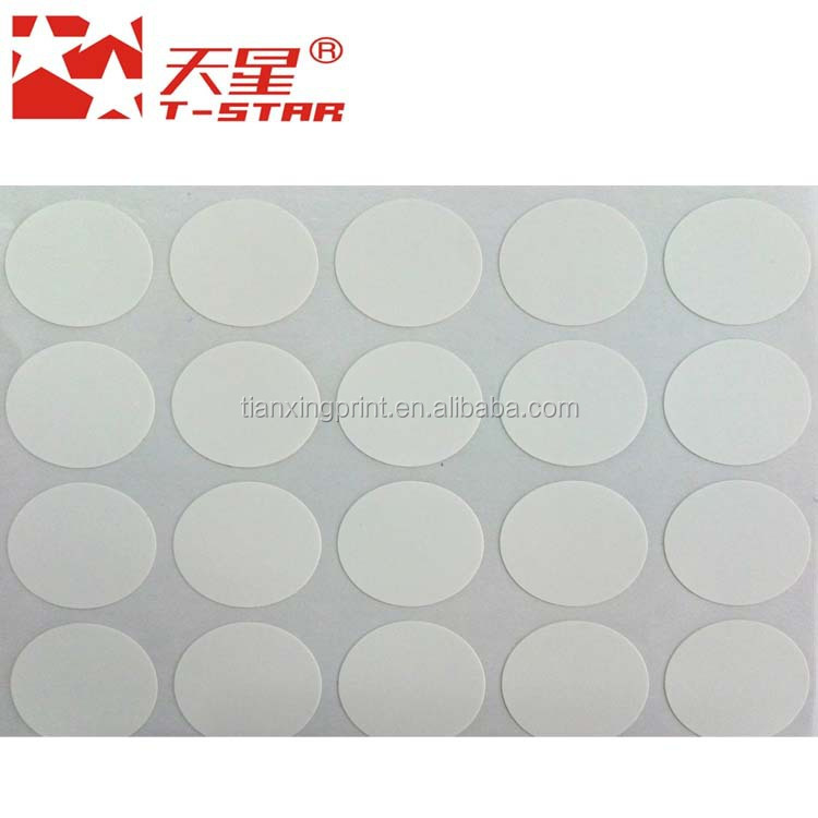 circle blank white label sticker for carton machine hardware