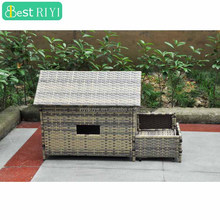 Small Roof Wicker Dog Bed House On Legs Building A Deck
