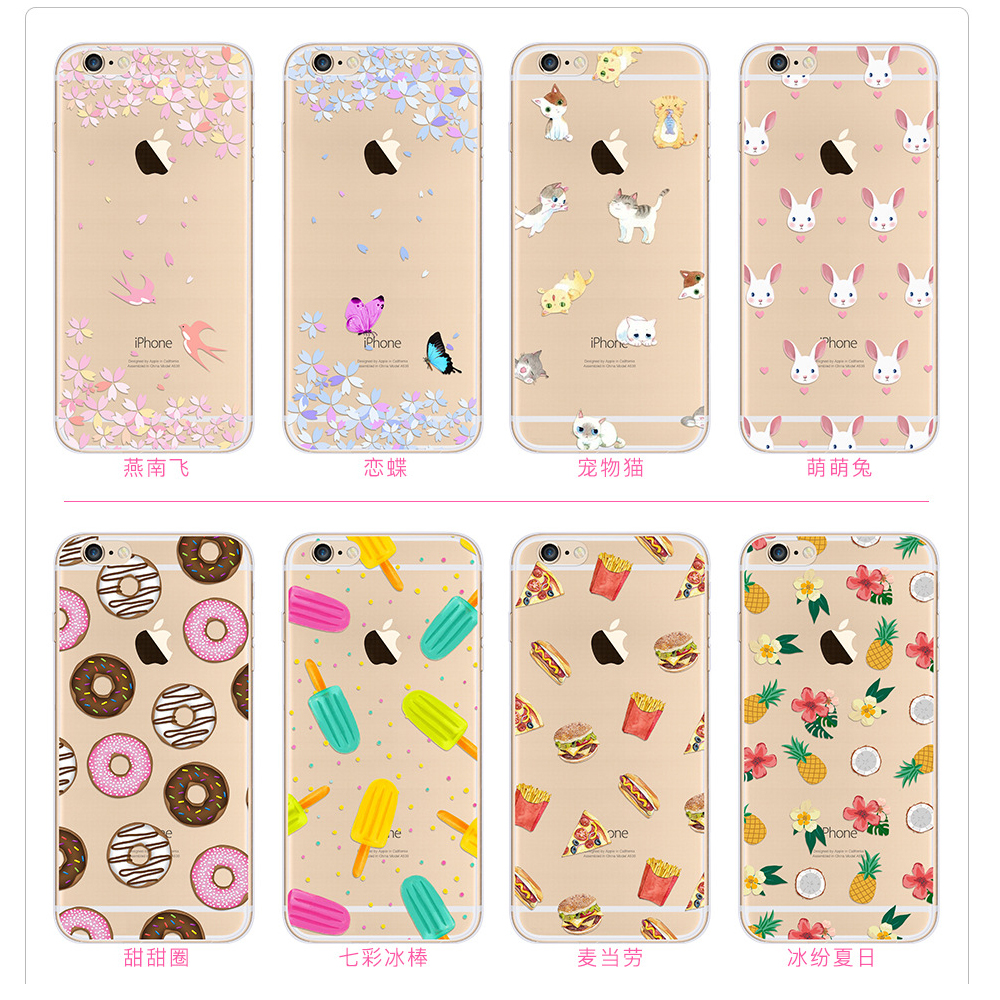2017 new products OEM design mobile phone cover for iphone 7 TPU case