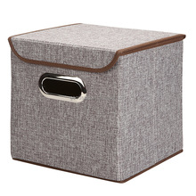 Generic Non-Woven Foldable Storage Box Cube Basket Bin With Lid
