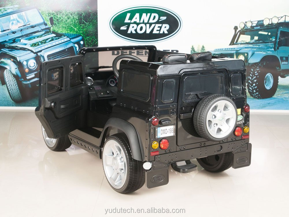 Painting Black Land Rover Defender Kids Ride On Truck/Car 12V Electric Powered Wheels with RC Remote Control ride on car