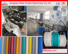 PVC suction pipes hose duct extrusion line plastic hose machine