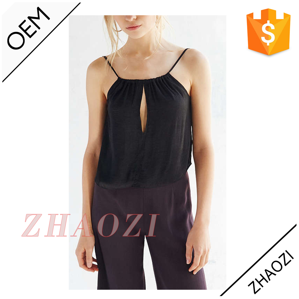 chinese factory sleeveless sheer chiffon blouses fashion 2014 sexy womens no clothes