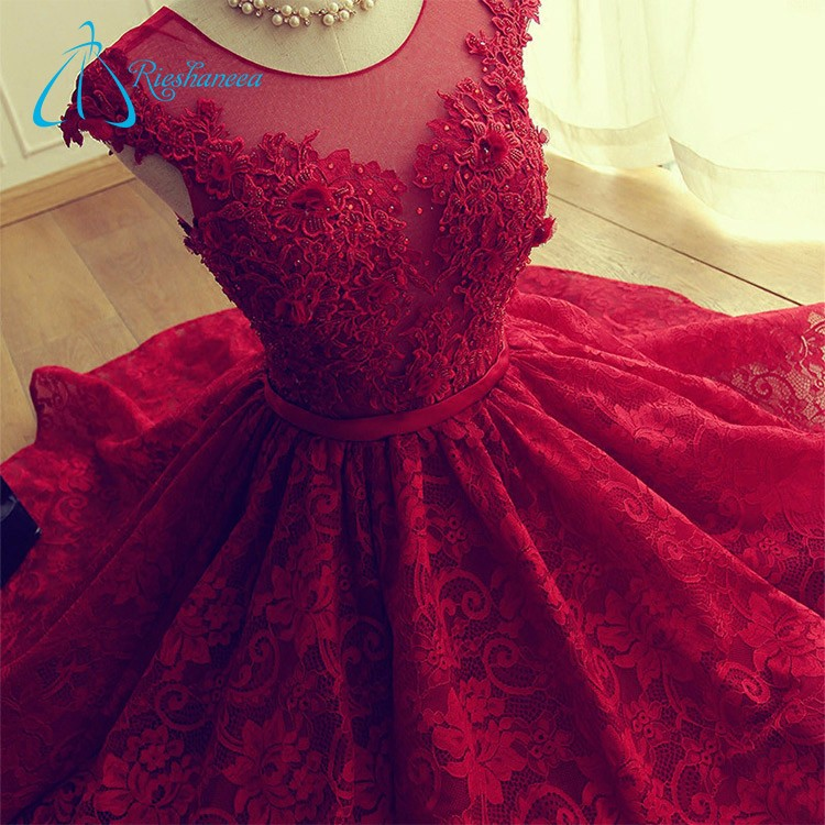 2017 Beaded Appliques Bandage Sex Lace Prom Dress Women