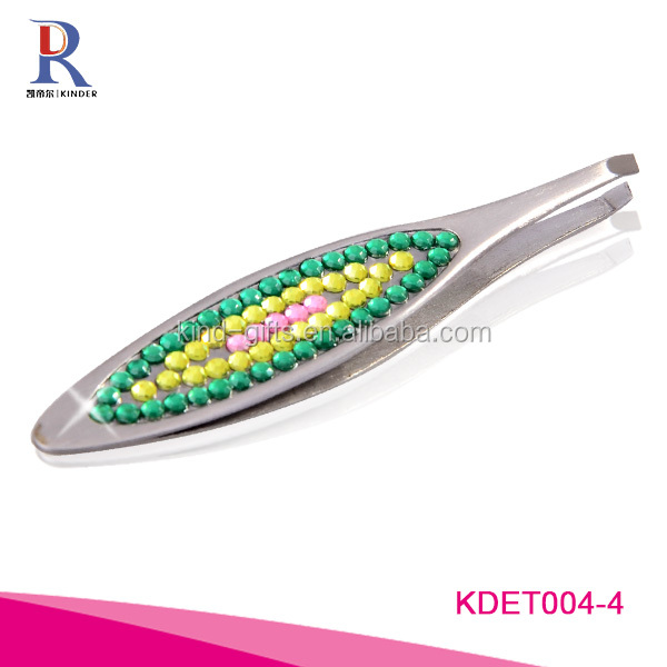 Bling Eyebrow Tweezer, Easy to Use, Customized Logos Available, OEM Orders Are Welcome