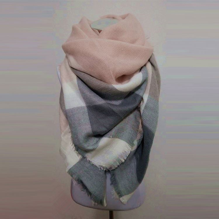 Top fashion simple design pashmina acrylic scarf wholesale