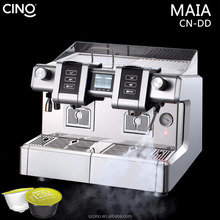 2 group automatic commercial capsule pod coffee machine