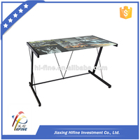 color printed steel computer standing modern desk table
