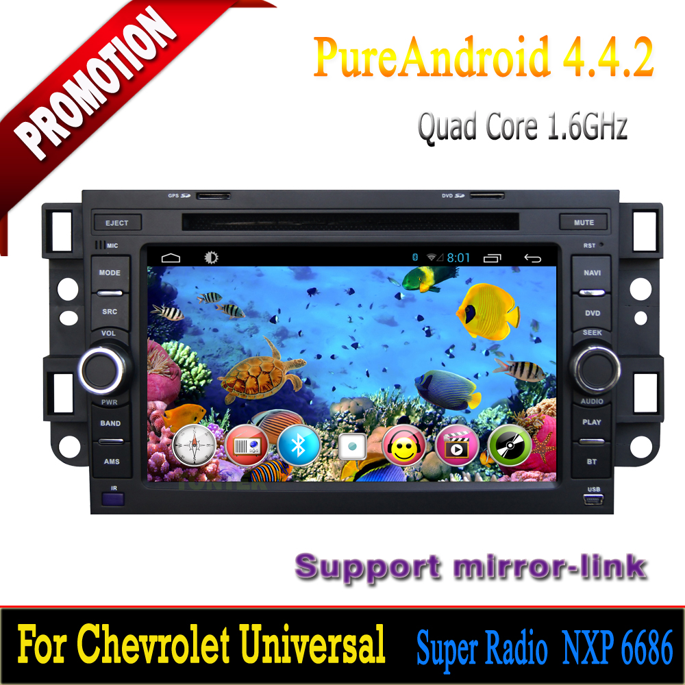 2 din quad core 3g/wifi bluetooth touch screen mirror-link hotspot mp3/mp4 radio gps for Chevrolet Epica android 4.4.2 dvd