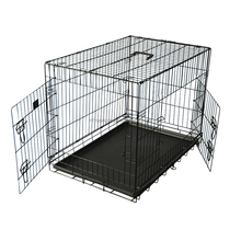 large outdoor wholesale black metal dog cage