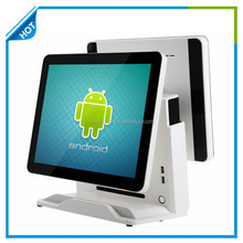 15 inch touch screen pos terminal for supermarket and restaurant android pos terminal with customer display Gc066