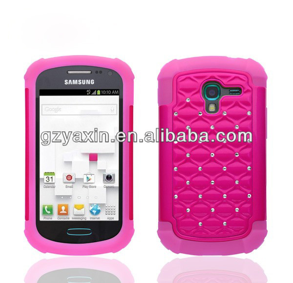 mobile phone case for samsung galaxy pocket,diamond design protector case cover for samsung t599