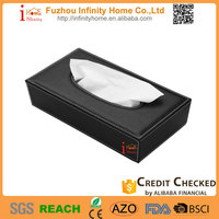 Custom decorative luxury PU leather small crochet tissue box covers