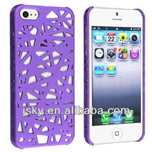 New Coming Snap-on Case Compatible with Apple iPhone 5, Dark Purple Bird Nest Rear