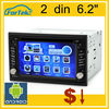 "Factory Wholesale 6.2"" 2 din car pc dvd player"