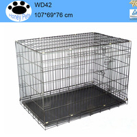 China 42 inch outdoor dog kennel large heavy duty metal diy dog kennel