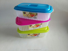 plastic food container with lids