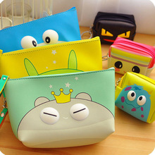 Korean cute cosmetic bag girl waterproof hand cosmetic storage bag stereo pu leather cosmetic pouch