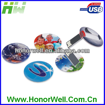 OEM Plastic Round Credit Card USB Flash Memory