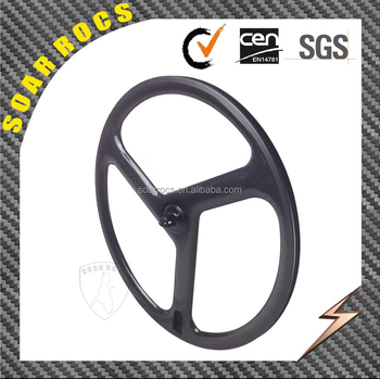 SoarRocs new 3 spokes wheelset 40mm clincher wheel 23mm width carbon tri spokes wheels