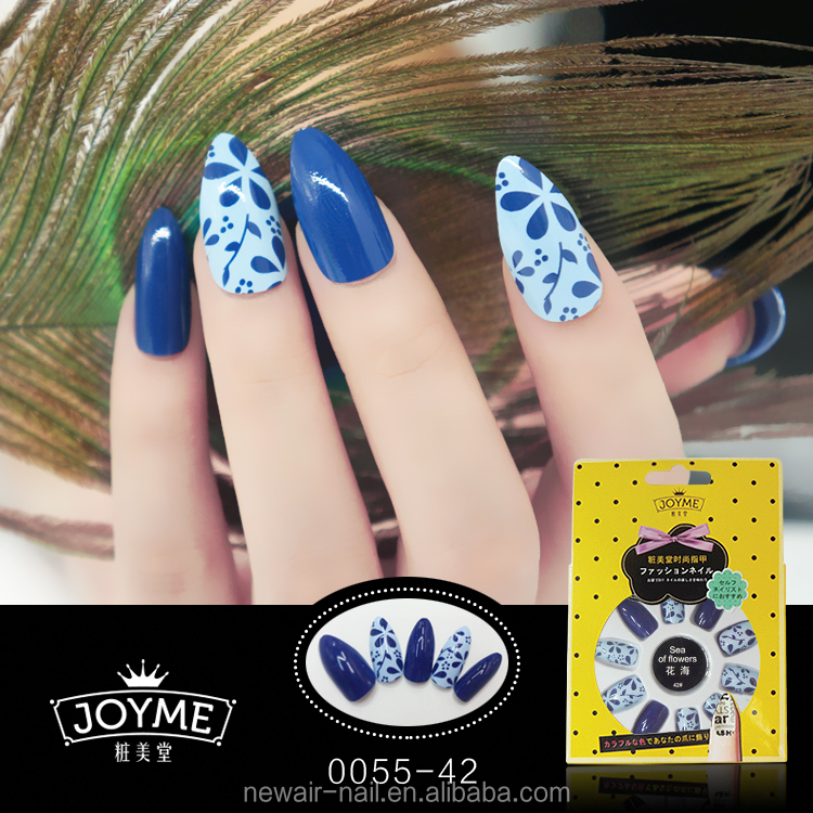 NEWAIR asia salon supply blue stellieto free acrylic nail product
