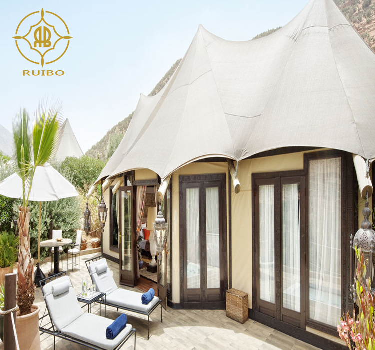 2019 Ruibo latest Pagoda Tent with PVC cover