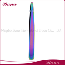 Shinning coated tweezer, slanted tip tweezer